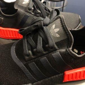 adidas NMD R1 Core Black Solar Red